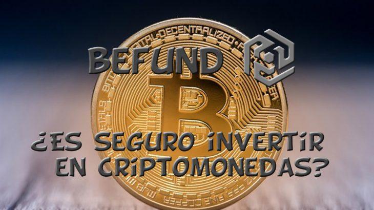 seguro invertir criptomonedas